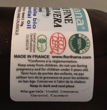 eticheta uleiului esential